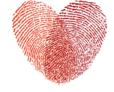 heart fingerprints